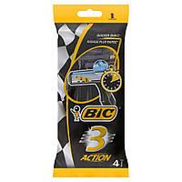 Bic 3 Action 4шт/уп одноразовые станки