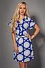 Легкое летнее платье с цветочным принтом, р 50-52