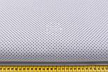 """Лоскут ткани №227а """"Шпильки"""" с графитовыми точками на сером, размер 49*80 см, фото 2"""