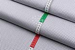 """Лоскут ткани №227а """"Шпильки"""" с графитовыми точками на сером, размер 49*80 см, фото 4"""