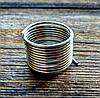 Проволока с памятью цвет серебро проволока 1 мм диаметр кольца 18 мм для рукоделия 10 витков