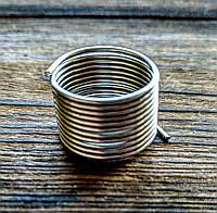 Проволока с памятью цвет серебро проволока 1 мм диаметр кольца 18 мм для рукоделия 10 витков, фото 1