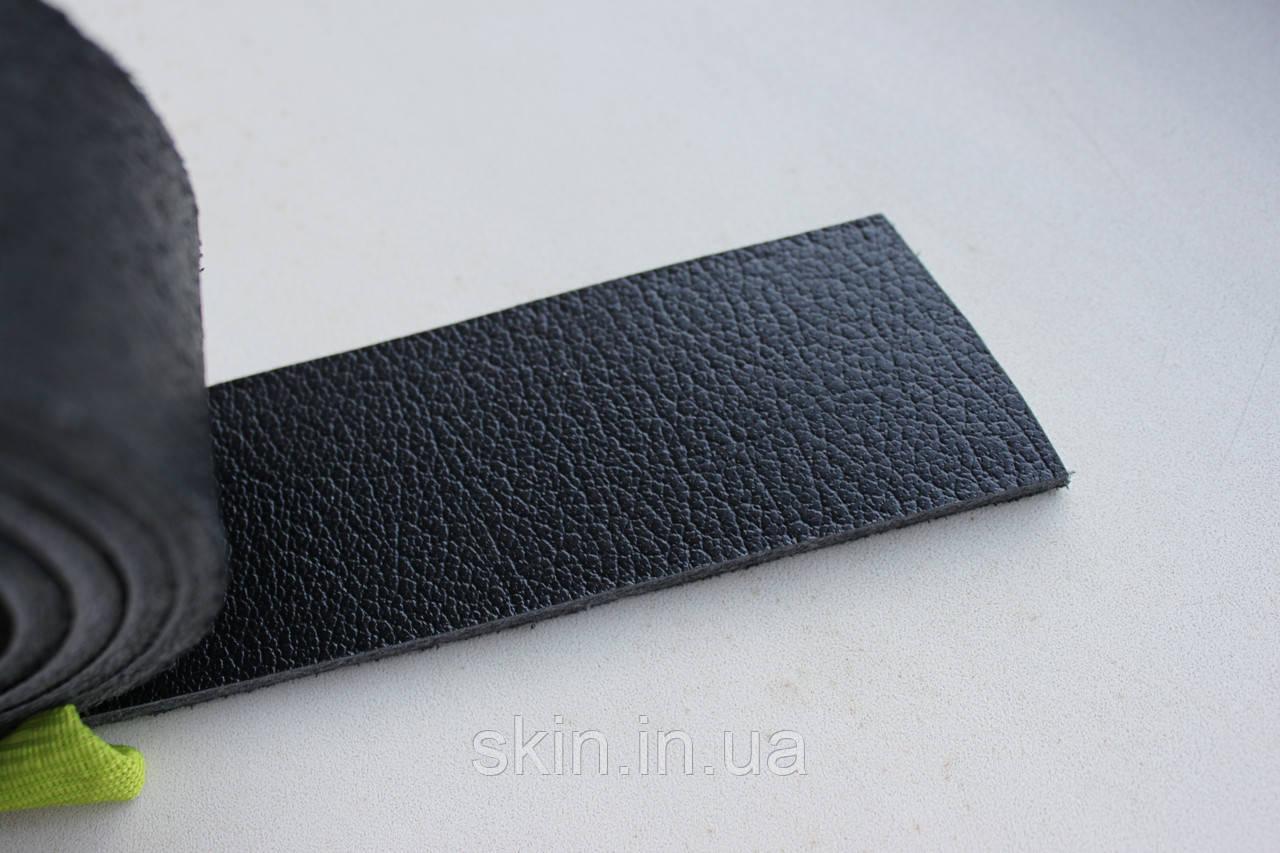 Полосы из натуральной кожи с покрытием для ремней черного цвета, толщина 3.5 мм, арт. СК 1729