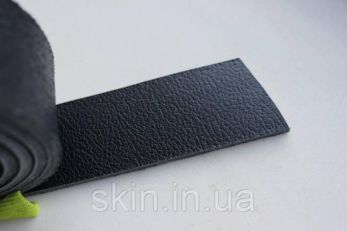 Полосы из натуральной кожи с покрытием для ремней черного цвета, толщина 3.5 мм, арт. СК 1729, фото 2