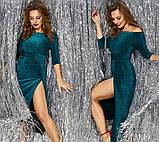 """Вечернее платье с разрезом """"Medea"""" - люрекс В И, фото 5"""