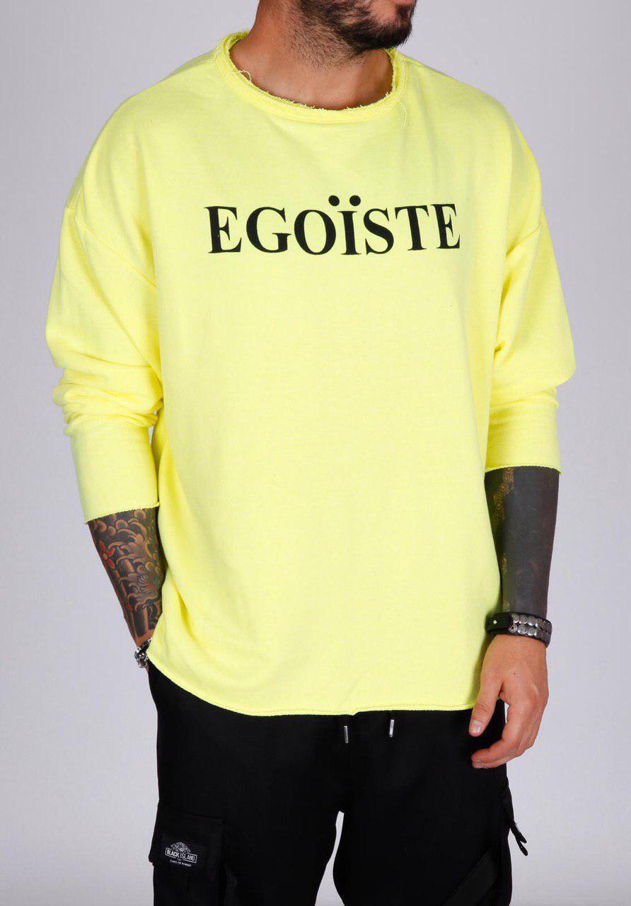 Мужской свитшот желтый Black Island EGOЇSTE