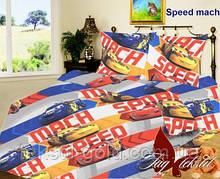 Детский комплект постельного белья Speed mach ТМ TAG ранфорс хлопок 160х220