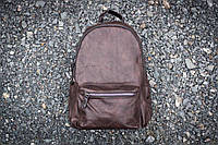 Городской кожаный  рюкзак (портфель)  krik коричневый