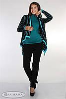 """Узкие брюки для беременных """"Lera"""", из стрейчевой костюмной ткани, черные, фото 1"""