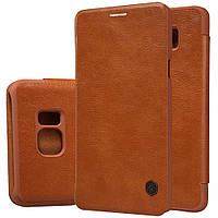 Шкіряний чохол Nillkin Qin для Samsung Galaxy Note 5 N920 коричневий, фото 1