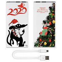 Портативная мобильная батарея Новогодняя елка, 7500 мАч (E189-41)
