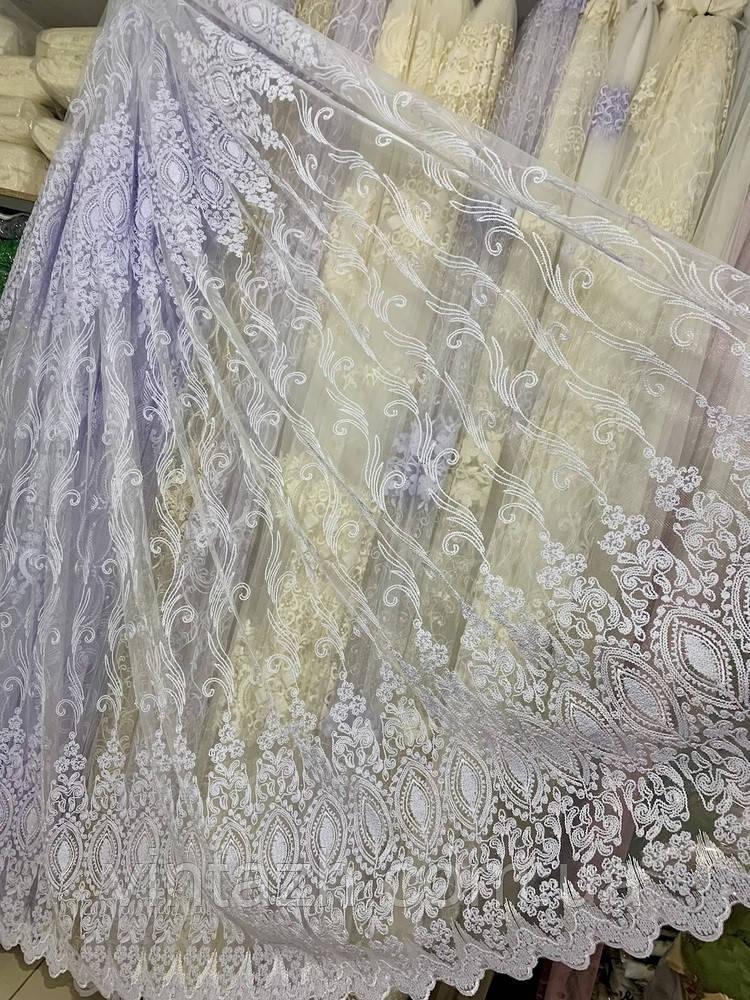 Шикарная тюль на окно с полной обработкой от производителя