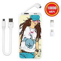 Дополнительный аккумулятор Fashion Girl, 10000 мАч (E510-11)