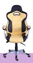 Кресло Форсаж №1 (1712) к/з PU черный/желтые вставки., фото 3