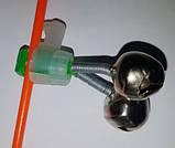 Бубенчик двойной с креплением для светлячка, фото 3