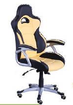Кресло Форсаж №1 (1712) к/з PU черный/желтые вставки., фото 2