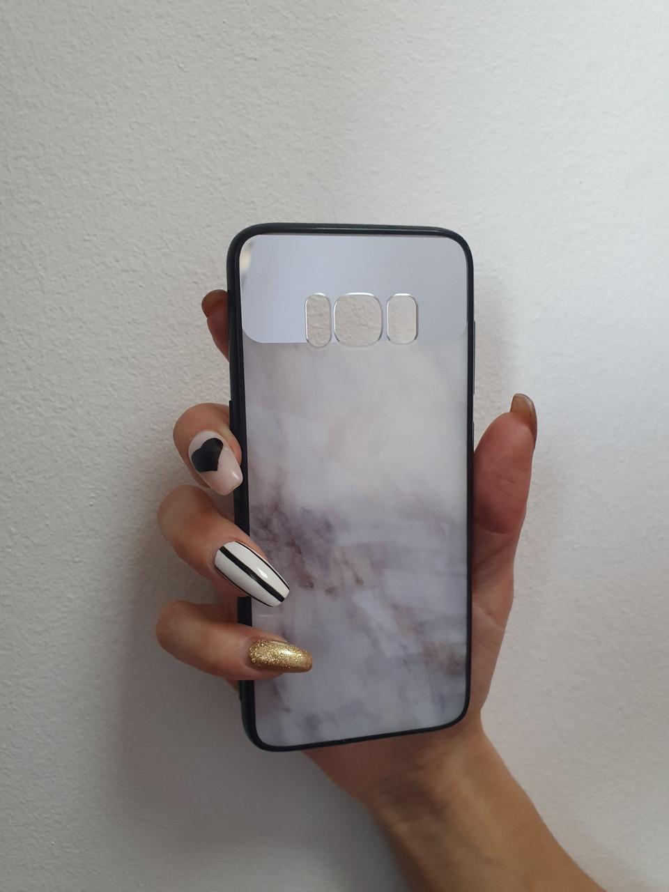 Чехол накладка мрамор для Samsung Galaxy S8