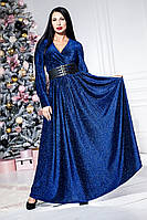 Праздничное платье с люриксом в пол   4 расцветки(46-52), фото 1