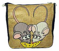 Джинсовая сумка МЫШКИ С СЫРОМ, фото 1