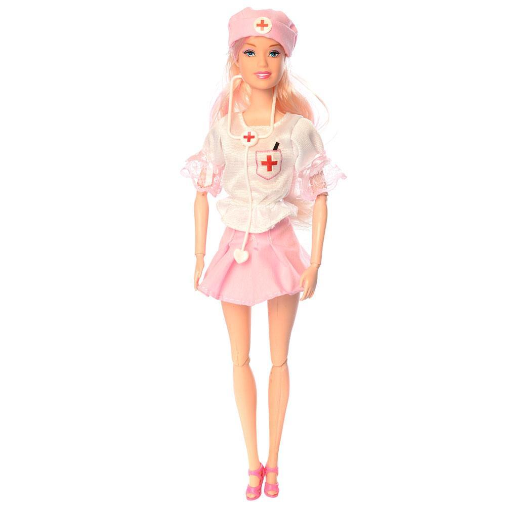 Кукла Барби доктор JX100-30 шарнирная с пупсом и аксессуарами
