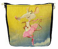 Джинсовая сумка МЫШКА БАЛЕРИНА, фото 1