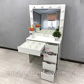 Туалетный столик с Лед освещением, туалетный столик, стол визажный