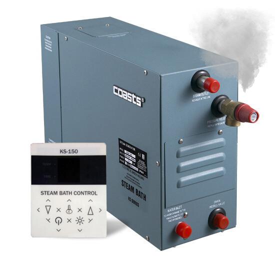 Парогенератор Coasts KSA-120 12 кВт 380v с выносным пультом KS-150 для сауны