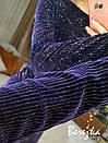 Велюровое платье с разрезом на ноге и длинным рукавом 66py614Q, фото 4