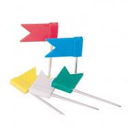 """Кнопки-цвяшки кольорові """"прапорці"""" №1010, 40шт."""