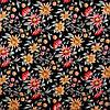 Шторы Прованс оранжевые и бордовые цветы на черном 111089 v 1, фото 2