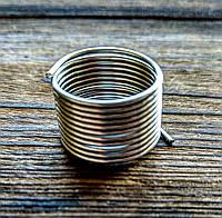 Проволока с памятью цвет серебро проволока 1.2 мм диаметр кольца 18 мм для рукоделия 10 витков
