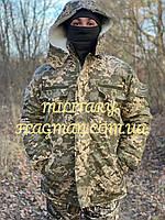Камуфляжный Зимний Костюм Пиксель ВСУ ММ-14 на Овчине