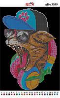 Алмазная вышивка АВч 3039 Кот меломан (25,3*35,2см)