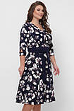 Платье расклешенное Луиза цветы, фото 4