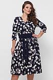 Платье расклешенное Луиза цветы, фото 5