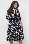 Платье расклешенное Луиза цветы, фото 7