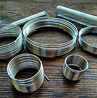 Проволока с памятью цвет серебро проволока 1.2 мм диаметр кольца 24 мм для колец 10 витков