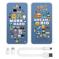 Портативная мобильная батарея Мечтай и работай, 5000 мАч (E505-39)