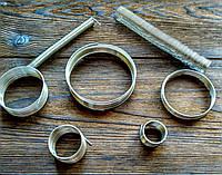 Проволока с памятью цвет серебро проволока 1.2 мм диаметр кольца 65 мм для браслетов 10 витков