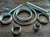 Проволока с памятью цвет серебро проволока 1.2 мм диаметр кольца 100 мм для браслетов 10 витков