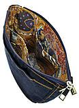 Джинсовая сумка КОТ С ТЮЛЬПАНАМИ, фото 6