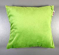 Детская декоративная подушка плюшевая, салатовая