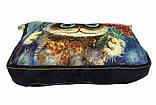 Джинсовая сумка КОТ С ТЮЛЬПАНАМИ, фото 3