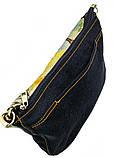 Джинсовая сумка КОТ С ТЮЛЬПАНАМИ, фото 5