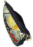 Джинсовая сумка КОТ С ТЮЛЬПАНАМИ, фото 4
