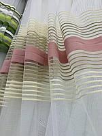 Шикарная тюль на окно с  обработкой в интернет магазине