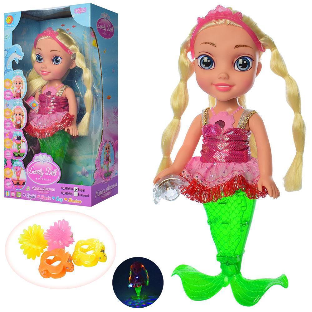 Кукла-русалка музыкальная XMY8086 световые эффекты