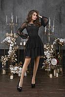 Шикарне  жіноче  плаття з гіпюром та сіткою  .Р-ри 42-46, фото 1