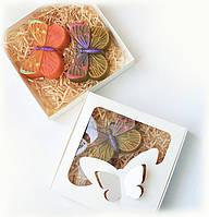 Подарок влюбленным набор натурального мыла БАБОЧКИ ручная работа, фото 1