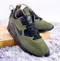 Air Max 90 Hyperfuse Mid Winter Olive | термо кроссовки; мужские; цвет оливковый; зимние; Найк